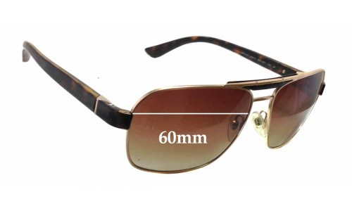 Prada SPR55O Replacement Sunglass Lenses - 60mm wide