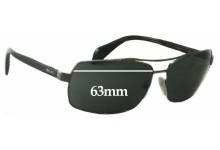 Prada SPR55Q Replacement Sunglass Lenses - 63mm Wide