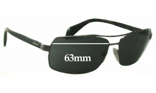 Prada SPR55Q Replacement Sunglass Lenses - 63mm Wide