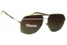 Prada SPR57M Replacement Sunglass Lenses - 59mm wide
