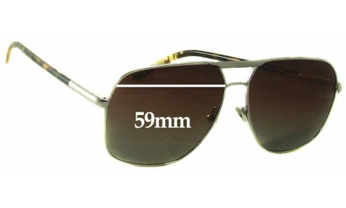 Prada SPR57M Replacement Sunglass Lenses - 59mm wide