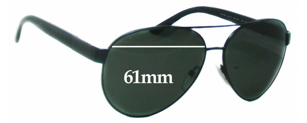Prada SRPR59N Replacement Sunglass Lenses - 61mm Wide