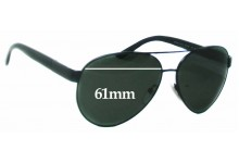 Prada SRPR59N Replacement Sunglass Lenses - 61mm Wide