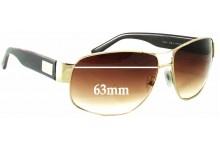 Prada SPR61L Replacement Sunglass Lenses - 63mm wide