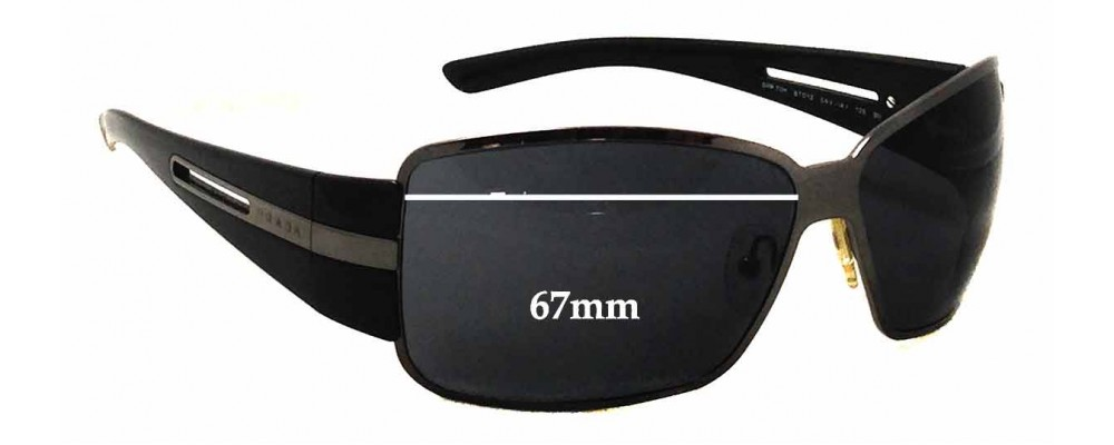 Prada SPR70H Replacement Sunglass Lenses - 67mm wide