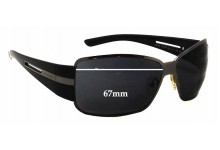 Prada SPR70H Replacement Sunglass Lenses - 67mm wide