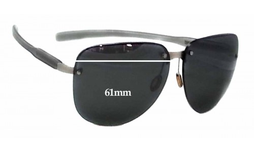 Prada SPS90A Replacement Sunglass Lenses - 61mm wide