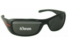 Prada SPS 01G Replacement Sunglass Lenses - 63mm wide