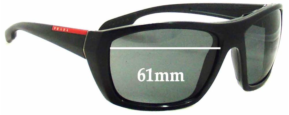 Prada SPS01O Replacement Sunglass Lenses - 61mm wide