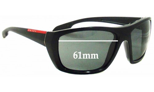 Prada SPS01O Replacement Sunglass Lenses - 61mm wide