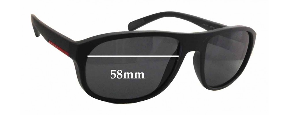Prada SPS01R Replacement Sunglass Lenses - 58mm wide x 44mm tall