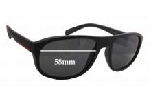 Prada SPS01R Replacement Sunglass Lenses - 58mm wide x 44mm tall