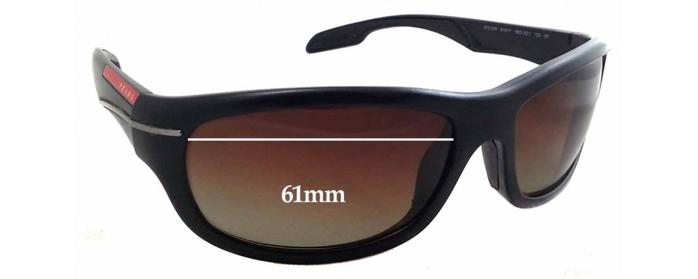 Prada SPS02N Replacement Sunglass Lenses - 61mm wide