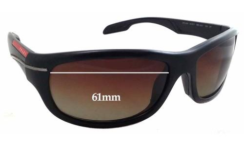 Prada SPS02N Replacement Sunglass Lenses - 61mm wide