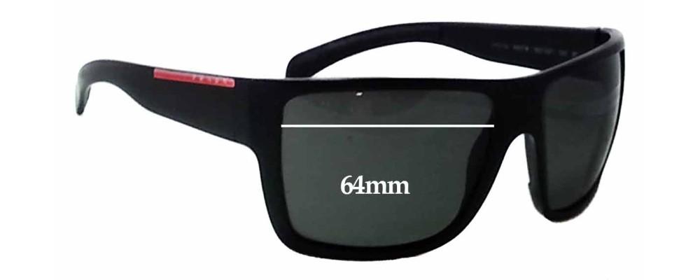 Prada SPS03L Replacement Sunglass Lenses - 64mm Wide