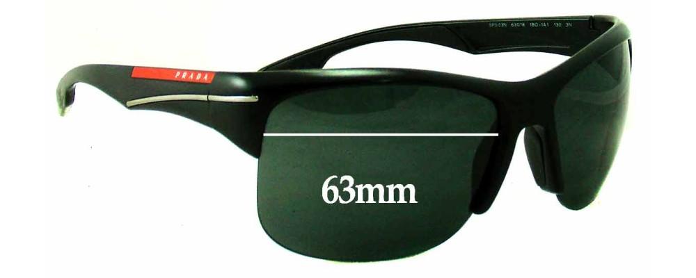 Prada SPS03N Replacement Sunglass Lenses - 63mm wide