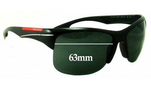 Prada SPS03N Replacement Sunglass Lenses - 63mm wide