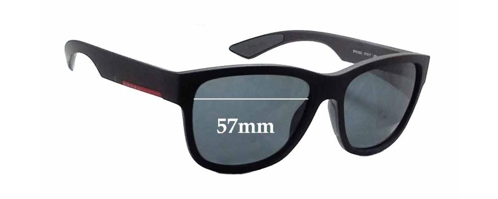 Prada SPS03Q Replacement Sunglass Lenses - 57mm wide