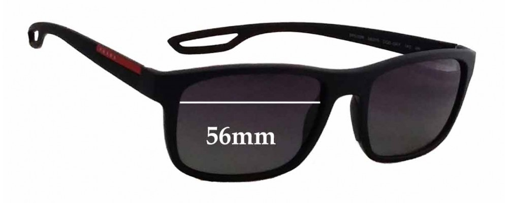 Prada SPS03R Replacement Sunglass Lenses - 56mm wide