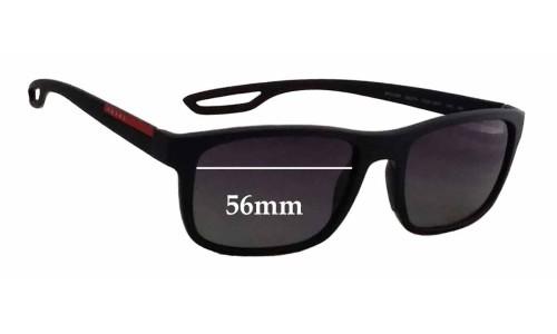 Prada SPS03R Replacement Sunglass Lenses - 56mm wide