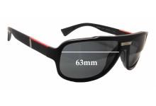 Prada SPS 04M Replacement Sunglass Lenses - 63mm wide