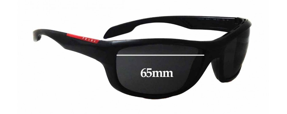 Prada SPS04N Replacement Sunglass Lenses - 65mm wide
