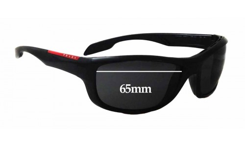 Prada SPS04N Replacement Sunglass Lenses - 65mm wide
