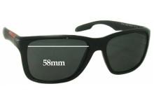 Prada SPS04O Replacement Sunglass Lenses - 58mm wide