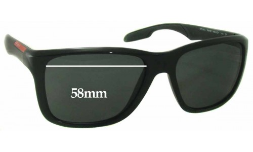 Prada SPS04O Sunglass Replacement Lenses - 58mm wide
