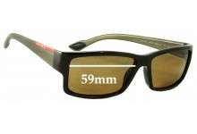 Prada SPS05O Replacement Sunglass Lenses - 59mm Wide