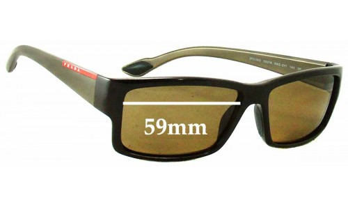Prada SPS05O Replacement Sunglass Lenses - 59mm Wide