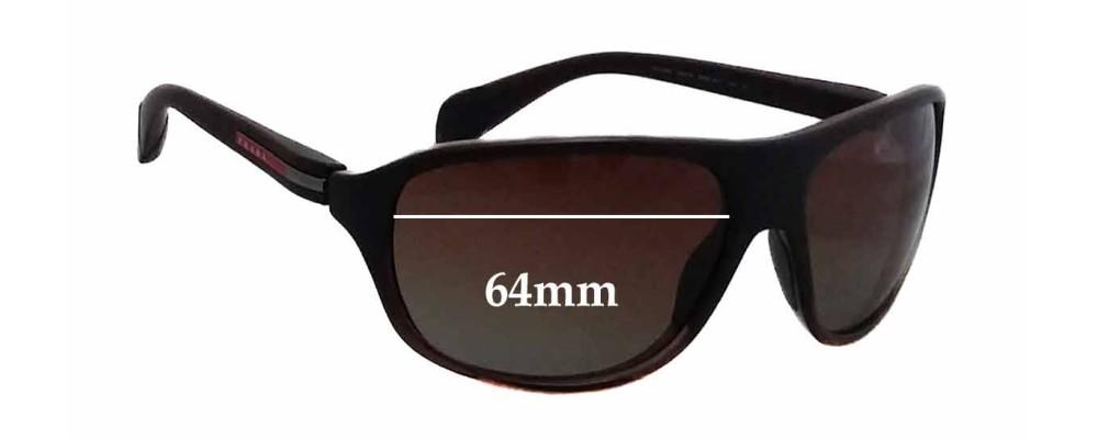 Prada SPS06N Replacement Sunglass Lenses - 64mm wide