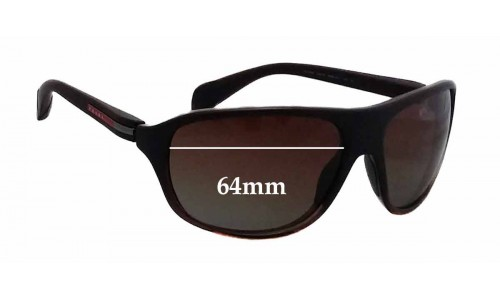 Prada SPS06N Replacement Sunglass Lenses - 64mm wide