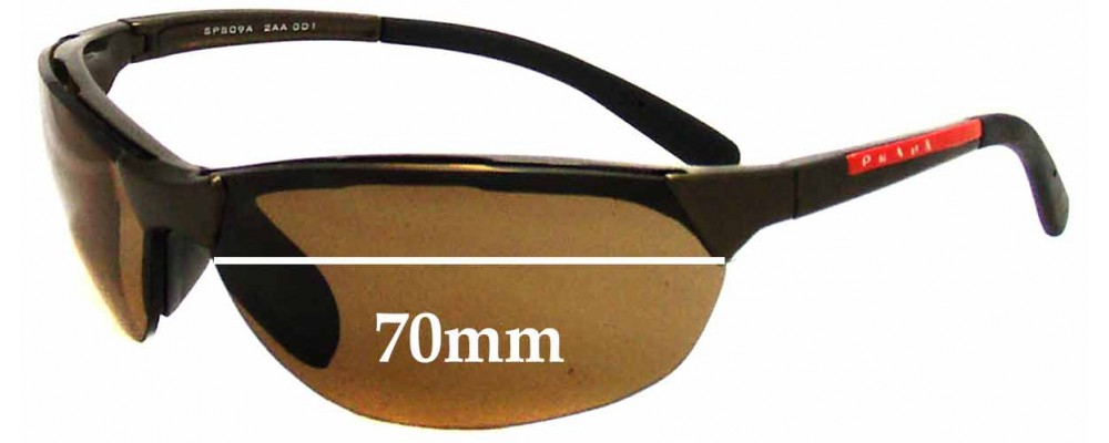 Prada SPS09A Replacement Sunglass Lenses - 70mm wide