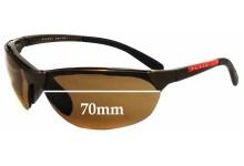 Prada SPS09A Replacement Sunglass Lenses - 70mm wide