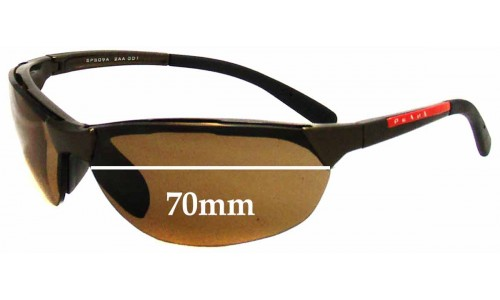 Sunglass Fix Replacement Lenses for Prada SPS09A - 70mm wide