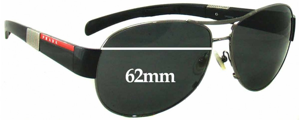 Prada SPS51H Replacement Sunglass Lenses - 62mm Wide