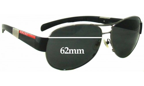 Sunglass Fix Replacement Lenses for Prada SPS51H - 62mm Wide