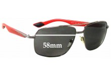 Prada SPS51M Replacement Sunglass Lenses - 58mm wide