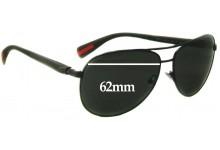 Prada SPS51O Replacement Sunglass Lenses 62MM Wide