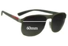 Prada SPS51Q Replacement Sunglass Lenses - 60mm wide