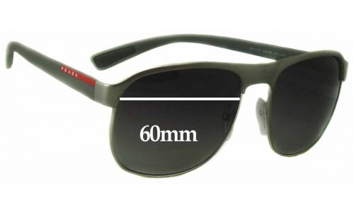 Prada SPS51Q Replacement Sunglass Lenses - 60mm wide