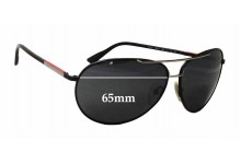 Prada SPS52L Replacement Sunglass Lenses - 65mm wide
