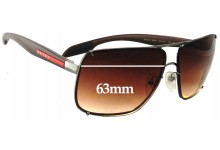 Prada SPS53O Replacement Sunglass Lenses - 63mm wide
