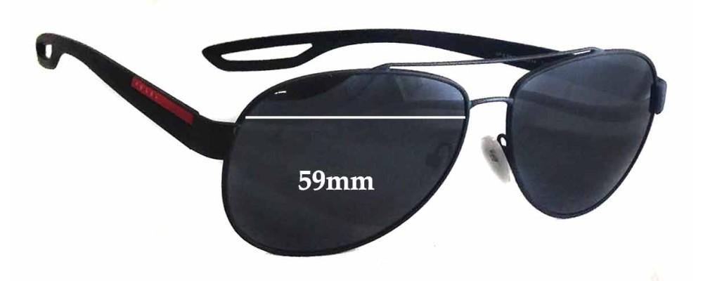 Prada SPS55Q Replacement Sunglass Lenses - 59mm wide