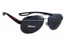 Prada SPS55Q Replacement Sunglass Lenses - 59mm wide
