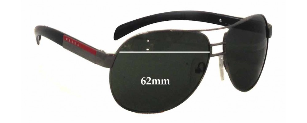 de6b77c438fd Sunglass Fix Replacement Lenses for Prada SPS57H - 62mm wide