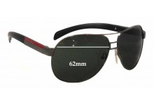 Prada SPS57H Replacement Sunglass Lenses - 62mm wide