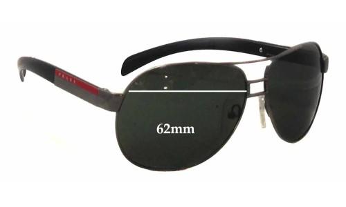 Prada SPS57H Replacement Sunglass Lenses - 62mm wide