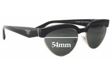 Prada VPR05Q Replacement Sunglass Lenses - 54mm wide